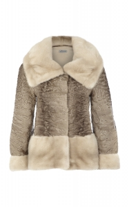 Pearl Mink and Sabbia Swakara Jacket