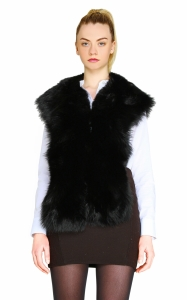 Oversized Black Fox Collar