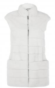 White Mink Girl Vest