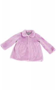 Pink Sheared Mink Girl's Coat