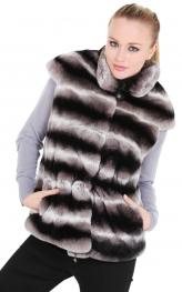 Chinchilla Coloured Rex Rabbit Vest