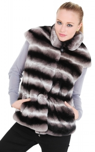 Chinchilla Coloured Rex Rabbit Vest