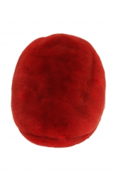 Beret Hat in Red sheared Mink
