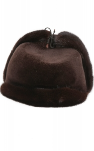 Aviator Hat in Rich Brown Mink
