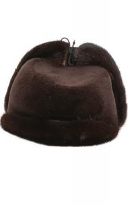 Aviator Hat in Rich Brown Mink