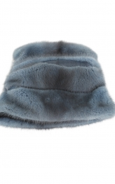 Cossack Hat in Blue Grey Mink