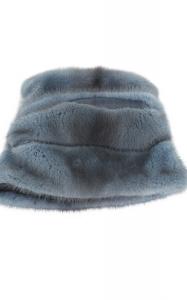 Cossack Hat in Blue Grey Mink