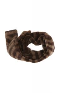 Rich Brown Sheared Mink Scarf (Long)
