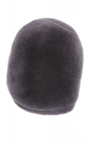 Beret Hat in Grey sheared Mink