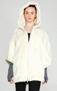 Rex Rabbit Poncho Coat