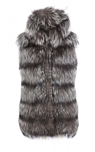 Silver Fox Hooded Vest