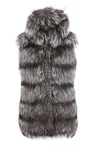 Silver Fox Hooded Vest