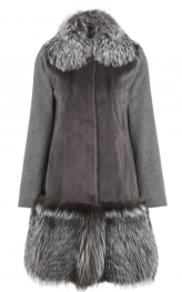 Mink and Silver Fox Coat